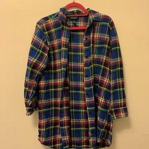 {Ralph Lauren} Plaid Sleep shirt